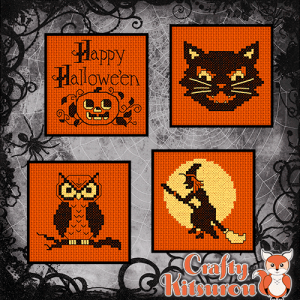Vintage Halloween Cross Stitch