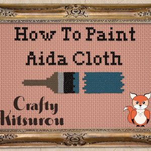 Hot to Paint Aida cloth
