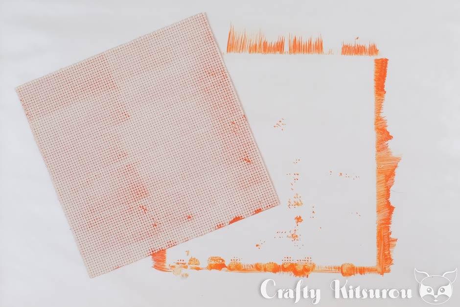 Aida cloth- step 3
