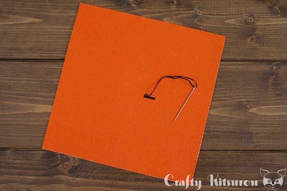 Aida cloth- step 6