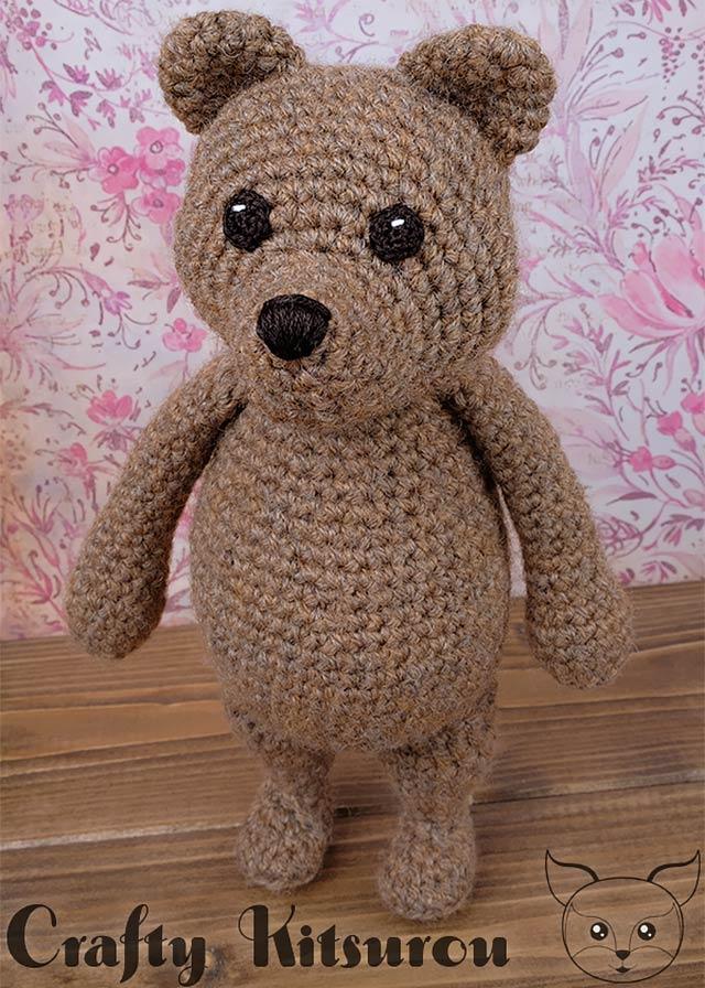 Mr Bear Amigurumi Crochet Pattern Crafty Kitsurou