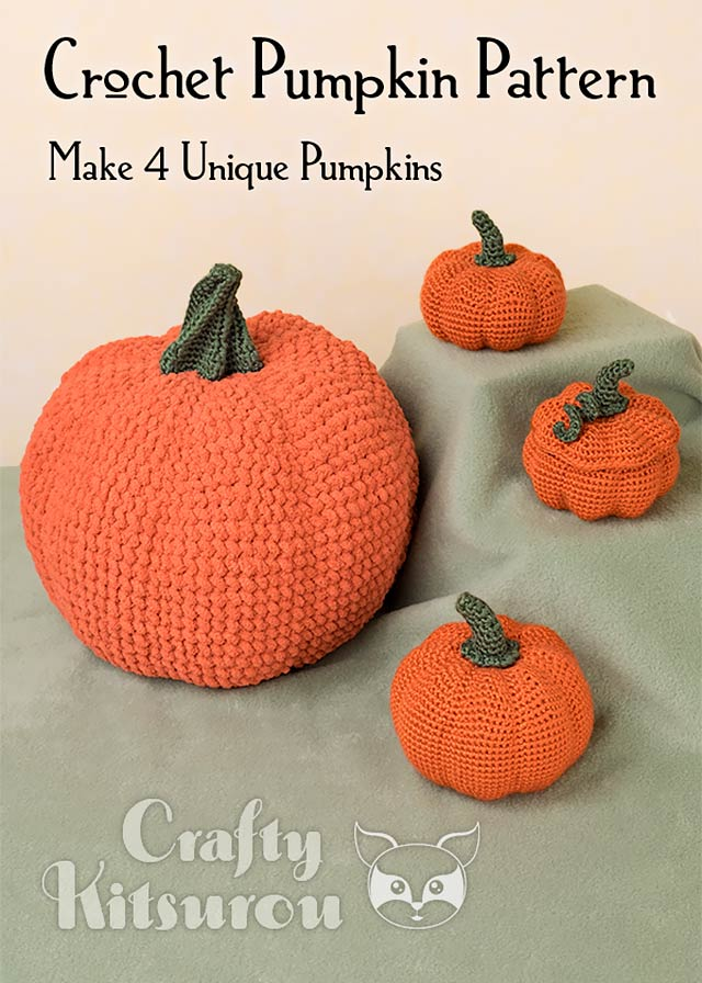 Pattern Amigurumi Crochet Pumpkins Crafty Kitsurou