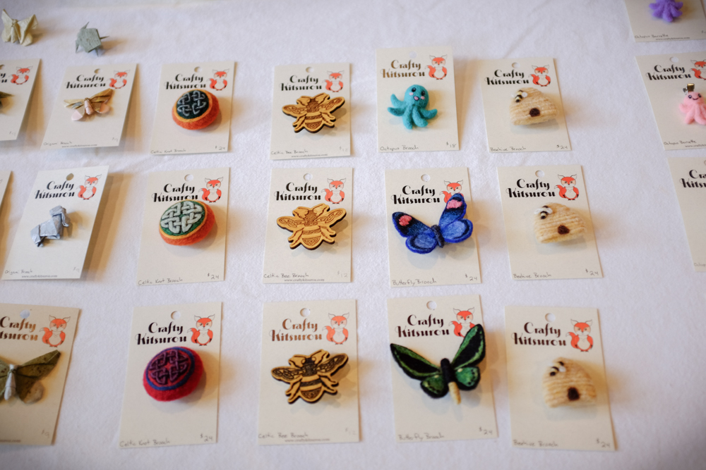 Various brooches. Everybody should wear brooches.