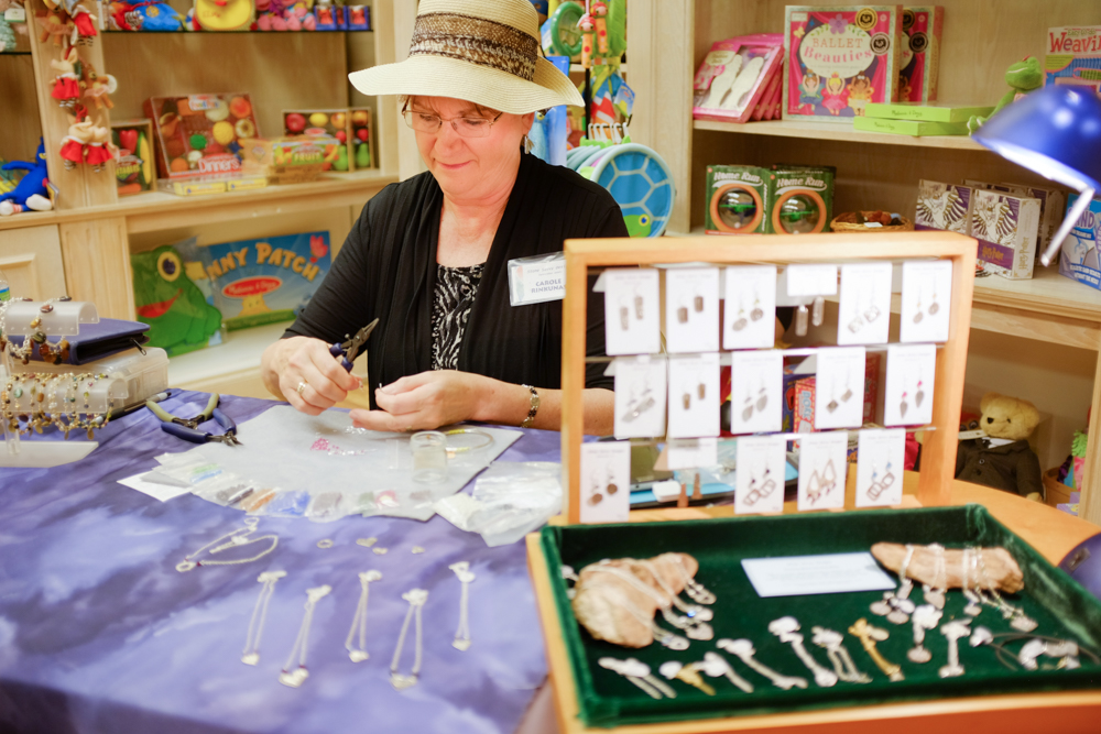 Carol Rinkunas of Stone Savvy Designs at The Moravian Book Shop.